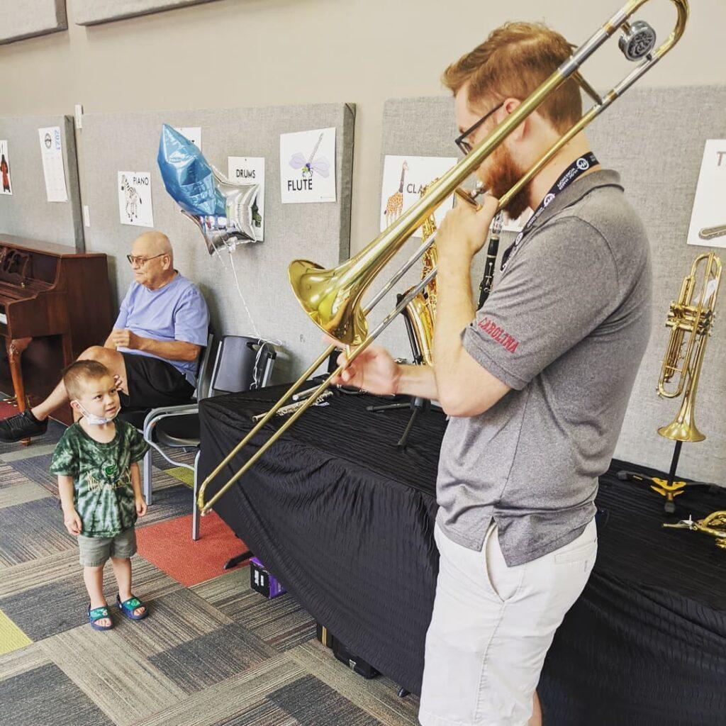 Mr. Jacob Playing the Tuba